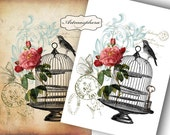 Shabby Elegance No1 - Digital sheet/ Printable Images/ for paper craft/ Iron On Transfer/ tote bags/ pillows