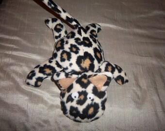 Floppy Plush Kitty Cat- Leopard