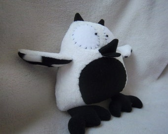 Owl Stuffed Animal- White & Back Ultra Plush