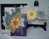 Hand painted card with envelope