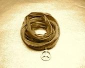 Peace Wish Charm Silk Cord Style No PBN417