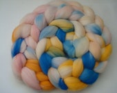 Hand Painted Merino Roving. 4 Ounces for spinning or felting