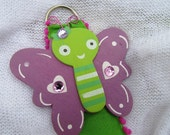 SALE Butterfly Hair Clip Organizer / Purple and Green