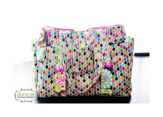 items similar to design your own large diaper bag set with free monogramming includes binky bag. Black Bedroom Furniture Sets. Home Design Ideas