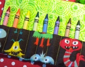 MONSTERS 2 - Travel Crayon Wallet Roll - Personalize with Your Child's Name