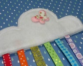 RAINBOW Crinkle Tag Toy For Your Baby Girl - Butterfly & Cloud