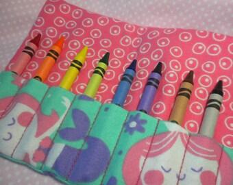 MERMAIDS - Carry Along Crayon Wallet / Wristlet Roll