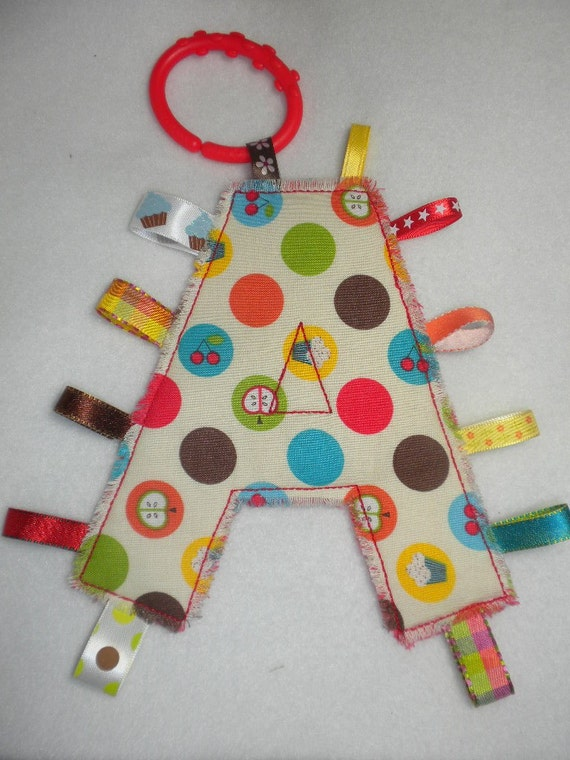 YUMMY TREATS - Monogram Tag Toy - Personalized Alphabet Toy for Your Baby Girl or Boy
