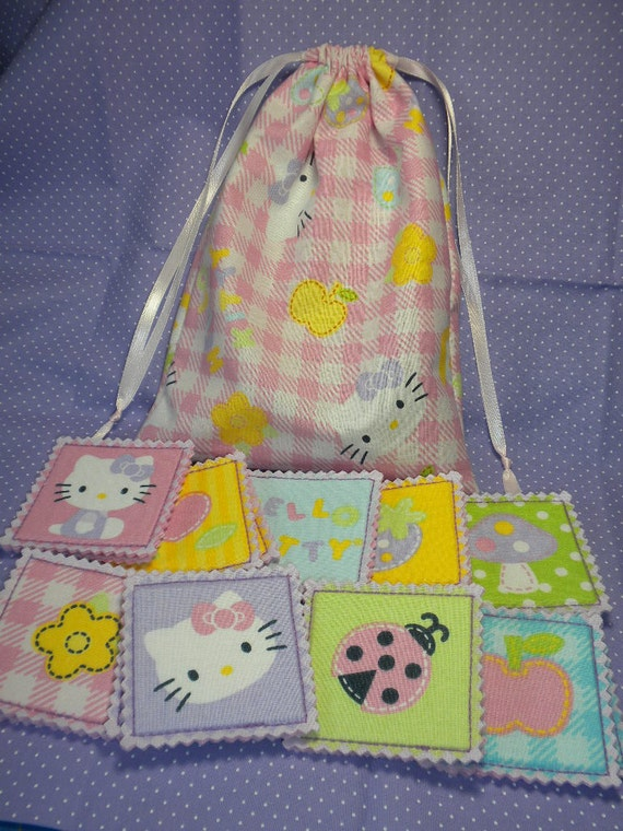 HELLO KITTY - Memory Game for Toddler Girl - Cards in a Pouch - CLEARANCE