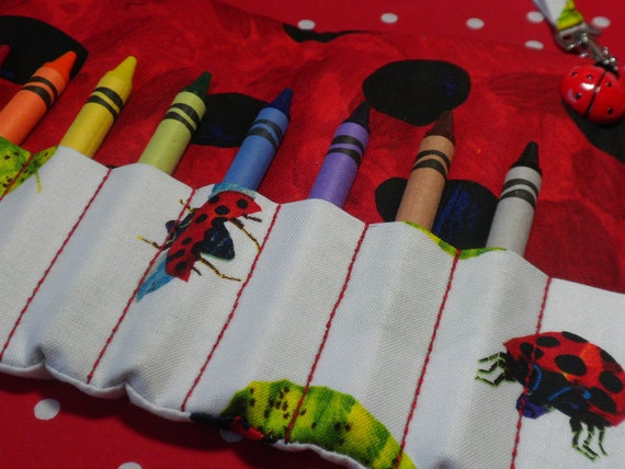 The GROUCHY LADYBUG - On-the-Go Crayon Wallet  Wristlet Roll