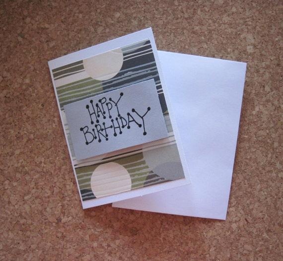 Happy Birthday Greeting Card, Male Birthday Card, Retro Birthday Card