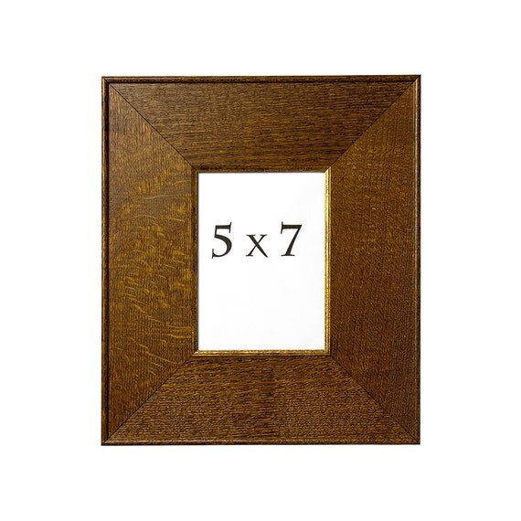 Quarter Sawn Oak Wood Picture Frame 5x7 Handmade By