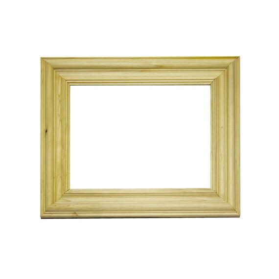 items similar to custom wood picture frame 16 x 20 unfinished wood moulding on etsy. Black Bedroom Furniture Sets. Home Design Ideas