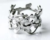 Argentium Silver Organic Free Form Ring