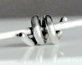 Spiral Pendant Necklace Sterling Silver Simple Modern Design