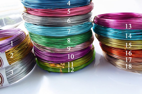 Shape wire, jewelry making wire, 20 meters width 1mm aluminum wires, 16 colors available