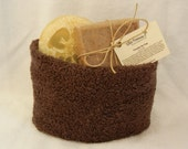 Hand Towel Gift Basket with All Natural Soaps