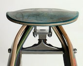 Recycled Skateboard Stool - Custom furniture using your broken skateboards.