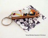 "Recycled Skateboard Keychain No.102 - Old School ""Pig"" Shape"