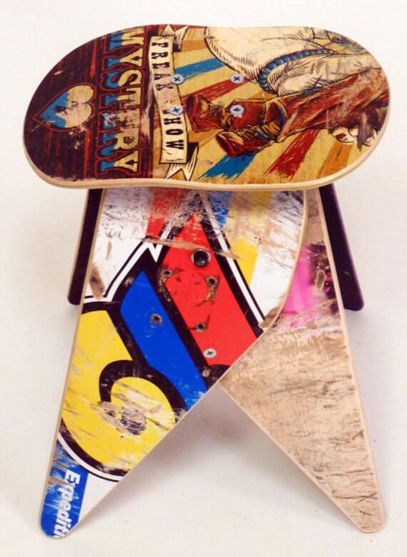 No.302 - Recycled skateboard stool