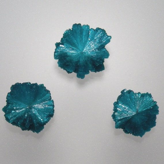 Cavansite Crystal Hand Cut Cabochon Set from India, free shipping