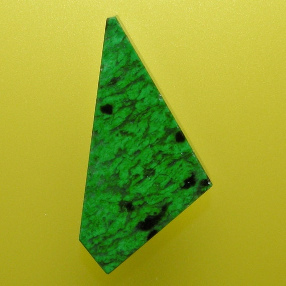 Maw Sit Sit Jade 100% Natural Hand Cut Cabochon from Myanmar, free shipping