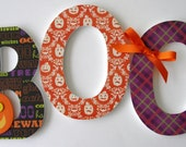 Custom Decorated Wooden Letters HALLOWEEN Kitchen, Dining Room, Home Decor, Living Room, Wood,Wall Decorations, Boo