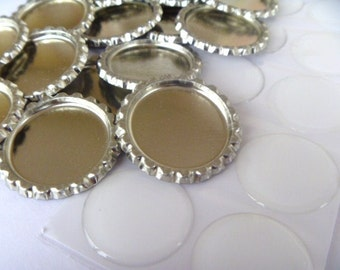 500 wholesale flattened bottle caps NO HOLES with 500epoxy resin domes great as hairbow middles or magnets