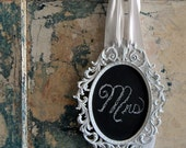 White Framed Chalkboard for Your Holidays or Wedding