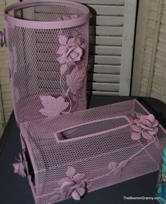 Vintage Bathroom Accessories - Ballet Slipper Pink