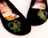 Black Peacock Flats ... Size 8