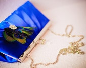 Royal Blue Peacock Clutch