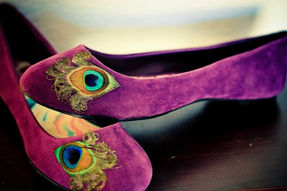 Purple  Peacock Flats ... Size 6