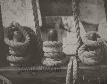 Three Nautical Ropes 8x10 Fine Art Print