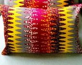 Black Friday Sale 60% Arizona CUSHION Throw pillow cover Genuine wax print batik - 12 x 18 inches