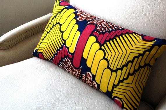 Retro Geometric Lumbar pillow cover - 12 x 22 inches