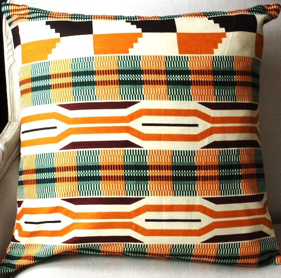 Summer Kente Home Style Tribal pillow - 20 x 20 inches (50cm)