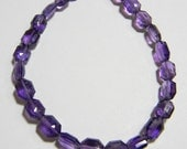 African Amethyst Faceted Long Hexagon briolettes 8 inch strand 5x7 mm approx