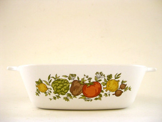 1970s Vintage Corning Ware Spice of Life Miniature Casserole Dish