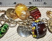 Sale Today Altered Art FOUND Objects Charm Bracelet Vintage Assemblage Mixed Media OOAK