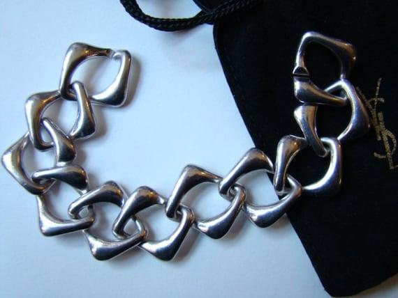 YSL Yves Saint Laurent  Bracelet Silver Collection