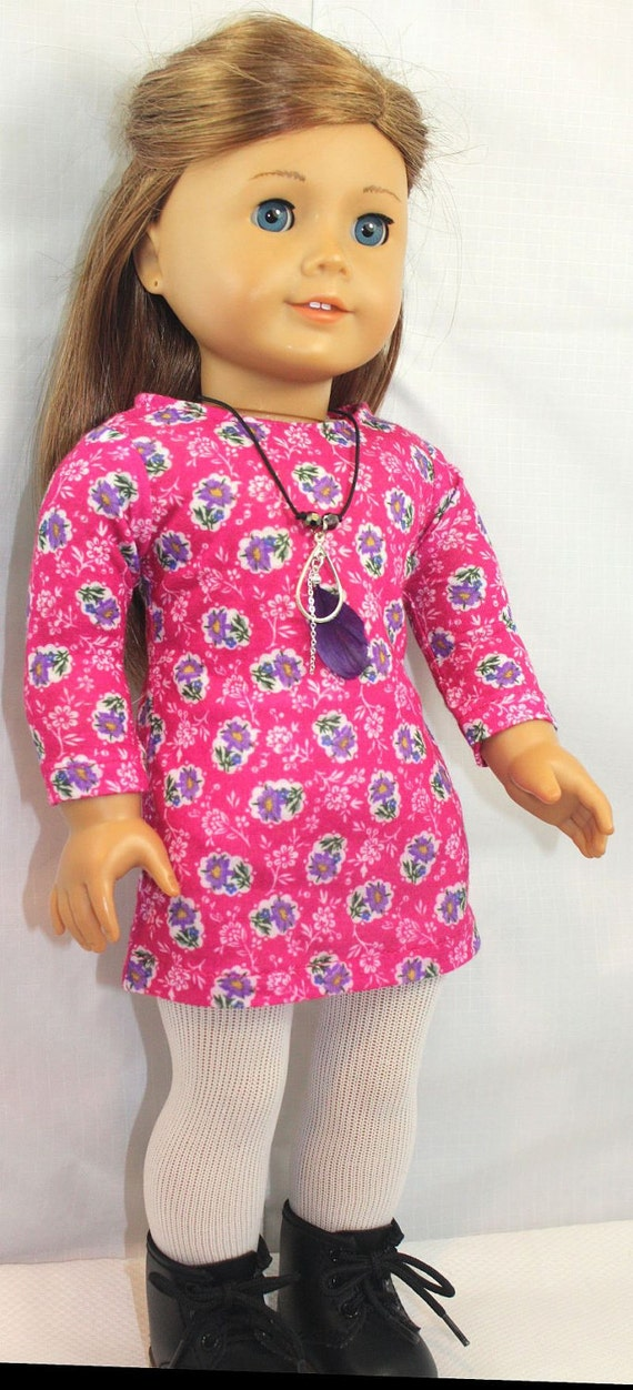American Girl Doll Clothes-Mini Dress and Necklace