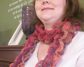 Crochet Pattern - Ruffled Women's Scarf - PDF File