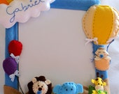 Photo Frame baby animals in the train - Personalised