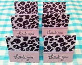 Black And Purple Animal Print Mini Cards - 2x2 6 sets