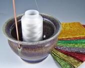 Mottled Lavender Thread Pot
