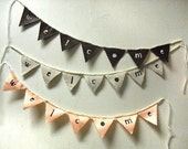 Fabric Bunting - Welcome Banner