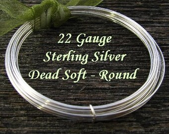 Sterling Silver Wire 22 Gauge - Round -  Dead Soft  -  5 Feet  - DS22S5