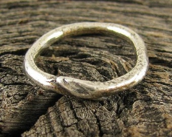 Sterling Silver Round Connector - Organic Dogwood Branch with Budding Leaf Link  - 16mm   AC182