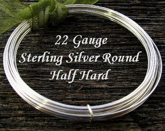 Round Sterling Silver Wire -  22 Gauge - Dead Soft  - BULK 20 Ft - DS22S20
